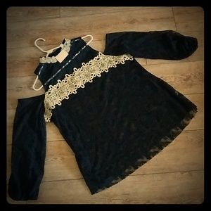 New Cato Black Lacy Top Shirt 18/20